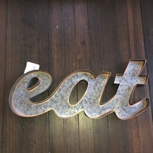 Galvanized EAT Wall Sign